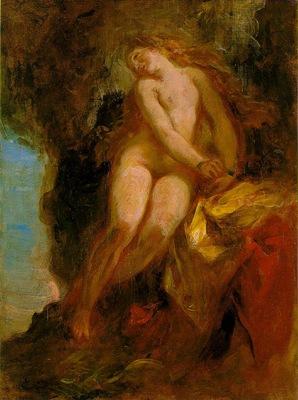 Delacroix Andromeda, ca 1852, 32 5x24 8 cm, Museum of Fine A