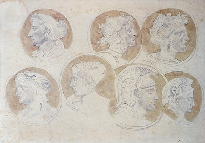 Delacroix Eugene Studies Of Antique Medallions
