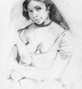 DELACROIX Eugene Aspasia sketch