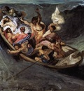DELACROIX Eugene Christ on the Lake of Gennezaret sketch