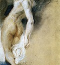 DELACROIX Eugene Female Nude Killed from Behind