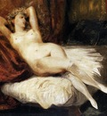 DELACROIX Eugene Female Nude Reclining on a Divan