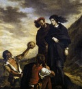 DELACROIX Eugene Hamlet and Horatio in the Graveyard