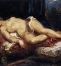 DELACROIX Eugene Odalisque Reclining on a Divan