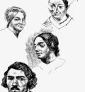 DELACROIX Eugene Page of a sketchbook
