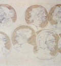 Delacroix Eugene Studies Of Antique Medallions