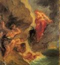 Delacroix Eugene Winter Juno And Aeolus
