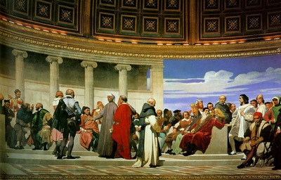 Hemicycle of the Ecole des Beaux Arts 1814 right