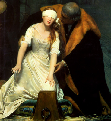 The Execution of Lady Jane Grey 1834 centre