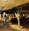 Derkinderen Antoon Farm with hay shed Sun