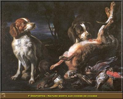 PO HunP 07 F Desportes Nature morte aux chiens de chasse