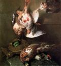 Desportes Alexandre A cat attacking dead birds Sun