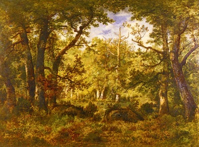 Pena Narcisse Virgile Diaz De La A Sunlit Clearing In The Forest At Fontainbleau