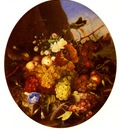 Dietrich Adelheid Still Life Of Fruit And Flowers