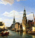 Dommerhuijzen C Montelbaanstoren in Amsterdam Sun