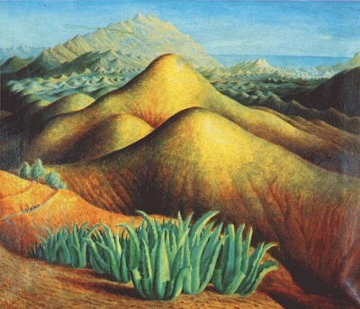 carrington mountain ranges from yegen, andalusia c1924