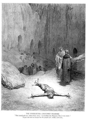 Dante 083 The Hypocrites Crucified Pharisee sqs