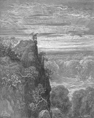 pl014 Now to the ascent of that steep savage hill Satan hath journeyd on, pensive and slow