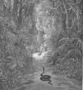 pl039 Nearer he drew, and many a walk traversed Of statliest covert, cedar, pine, or palm
