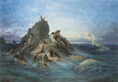 1869 Les Oceanides Les Naiades de la mer