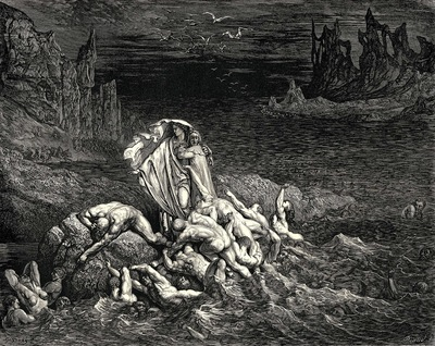 Dore Gustave 23 Now seest thou son  The souls of those whom anger overcame