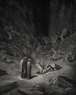 Dore Gustave 29 He answer thus return d The arch heretics are here accompanied by every sect the
