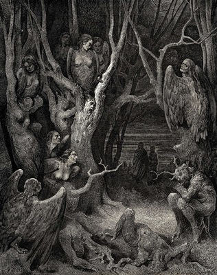 Dore Gustave 35  It is here where the hideous Harpies build their nests