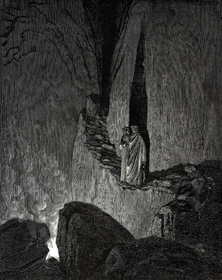 Dore Gustave 55  The master said In this fire souls are burning and each soul is hardened by the fire