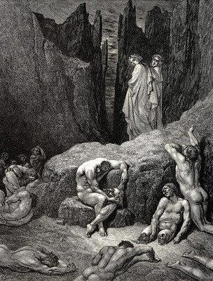 Dore Gustave 59  But Virgile tells me What are you looking at  Why are you still looking at those sad and horrible shadows