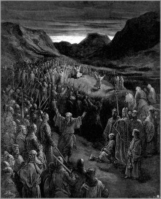 crusades priests exhorting crusaders