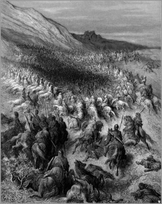 crusades surrounded by saladin