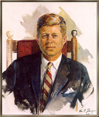 JFK portrait by William Franklin Draper
