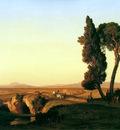 Dubourcq Pierre Landscape near Rome Sun