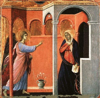 Duccio Annunciation, National Gallery, London