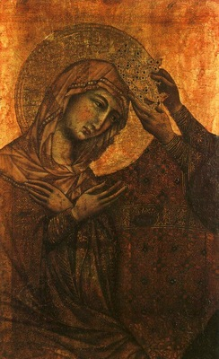 Duccio Coronation of the Virgin, Szepmuveszeti Muzeum, Budap