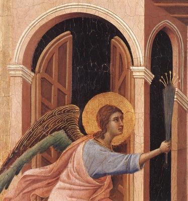 Duccio Marie dod forebadas, Maestaaltaret, detalj , Dommuse