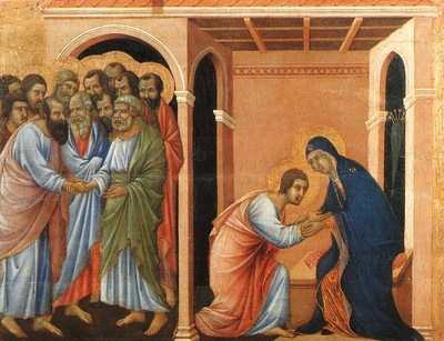 Duccio Parting from St  John, Museo dellOpera del Duomo, Si
