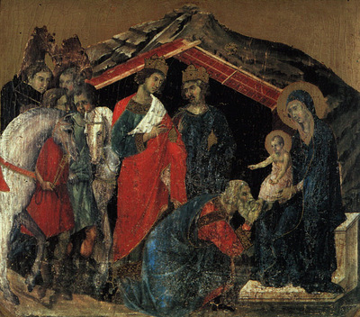 Duccio The Maesta Altarpiece, detail from the predella featu