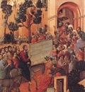 Duccio Entry into Jerusalem, Baksidan av Maestaaltaret, Domm