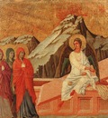 duccio the holy women at the sepulchre, 1308