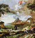 Dughet caspard Landscape with St Augustine and the Mystery Sun