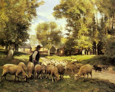 Dupre Julien A Shepherd And His Flock