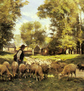 Dupre Julien A Shepherd And His Flock