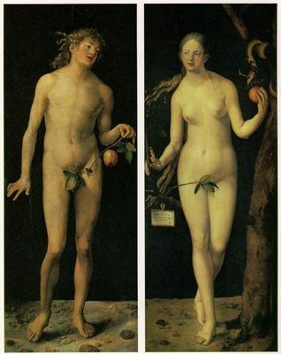 DURER ADAM AND EVE,1507, PRADO