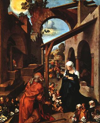 DURER NATIVITY PAUMGARTNER ALTARPIECE, CENTRAL PANEL ,1504,