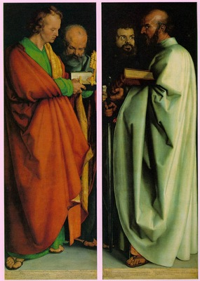 DURER THE FOUR HOLY MEN,1526, ALTE PINAKOTHEK,MUNCHEN