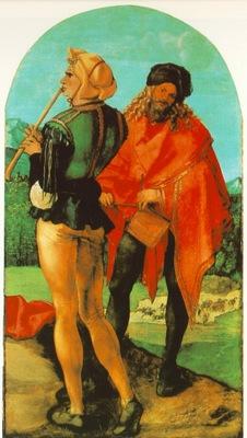 DURER TWO MUSICIANS,C 1504, WALLRAF RICHARTZ MUSEUM,KOLN