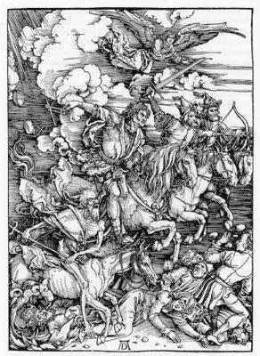 DURER THE FOUR HORSEMEN OF THE APOCALYPSE,1498, WOODCUT
