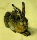 DURER A YOUNG HARE,1502, WATER COLOUR,Graphische Sammlung Al