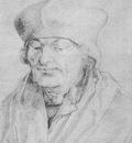 DURER ERASMUS,1520, BLACK CHALK, LOUVRE
